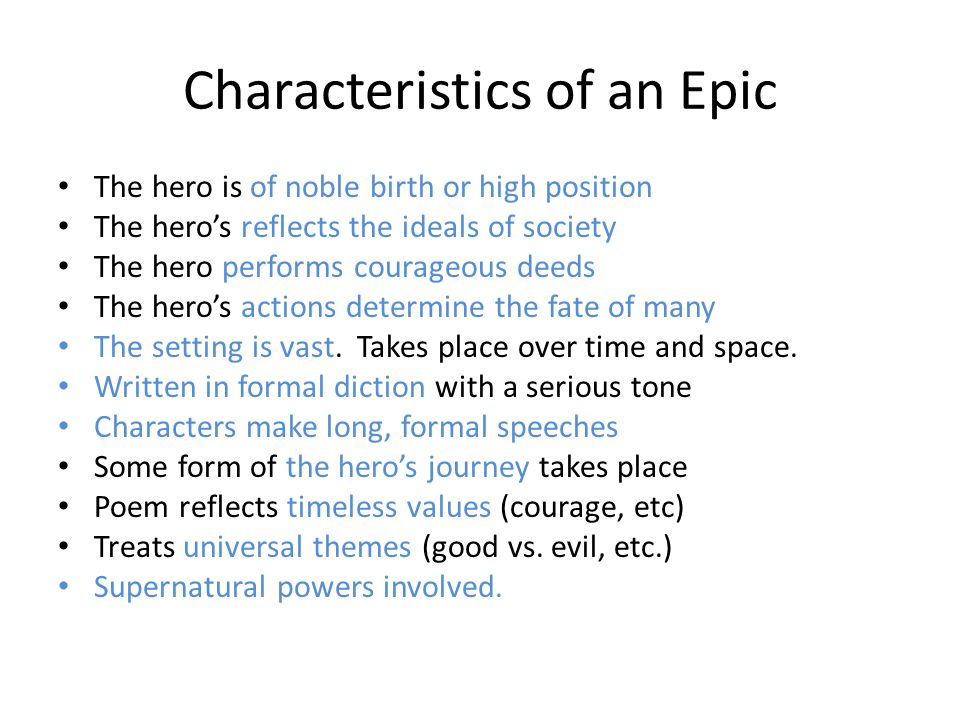 7 traits of an epic hero