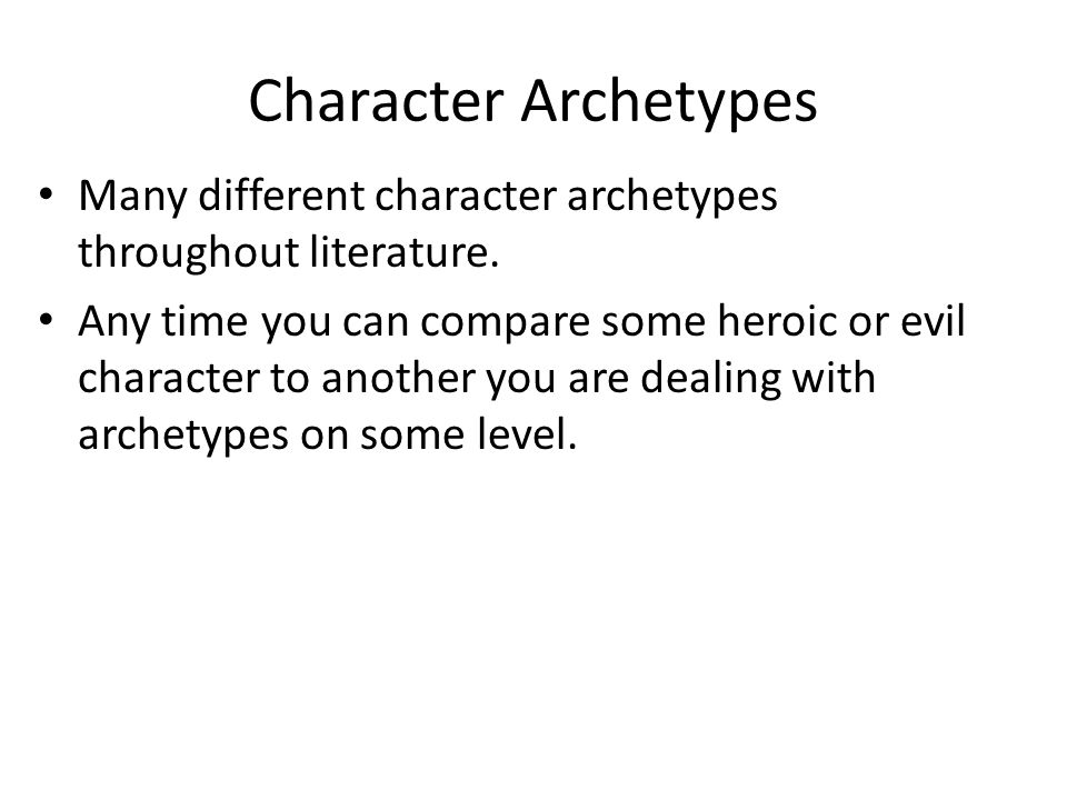 character archetypes in literature