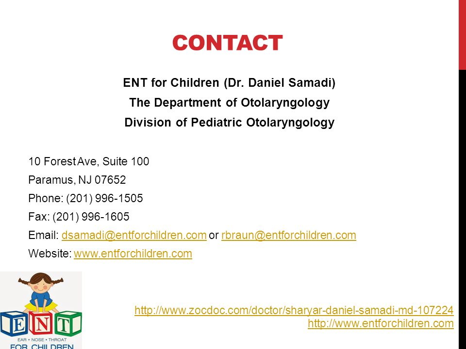 EAR, NOSE, & THROAT DISORDERS IN CHILDREN BY DR  DANIEL