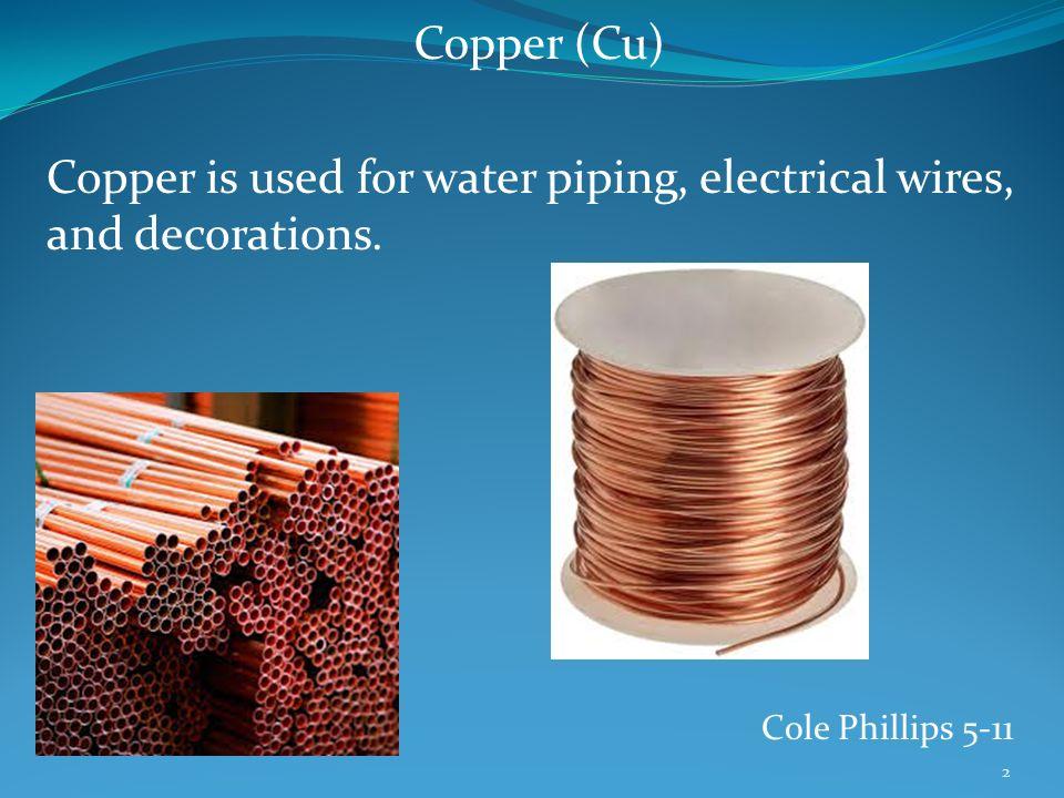 """Transition Metals – Copper (Cu) Name Origin – The name """"copper ..."""