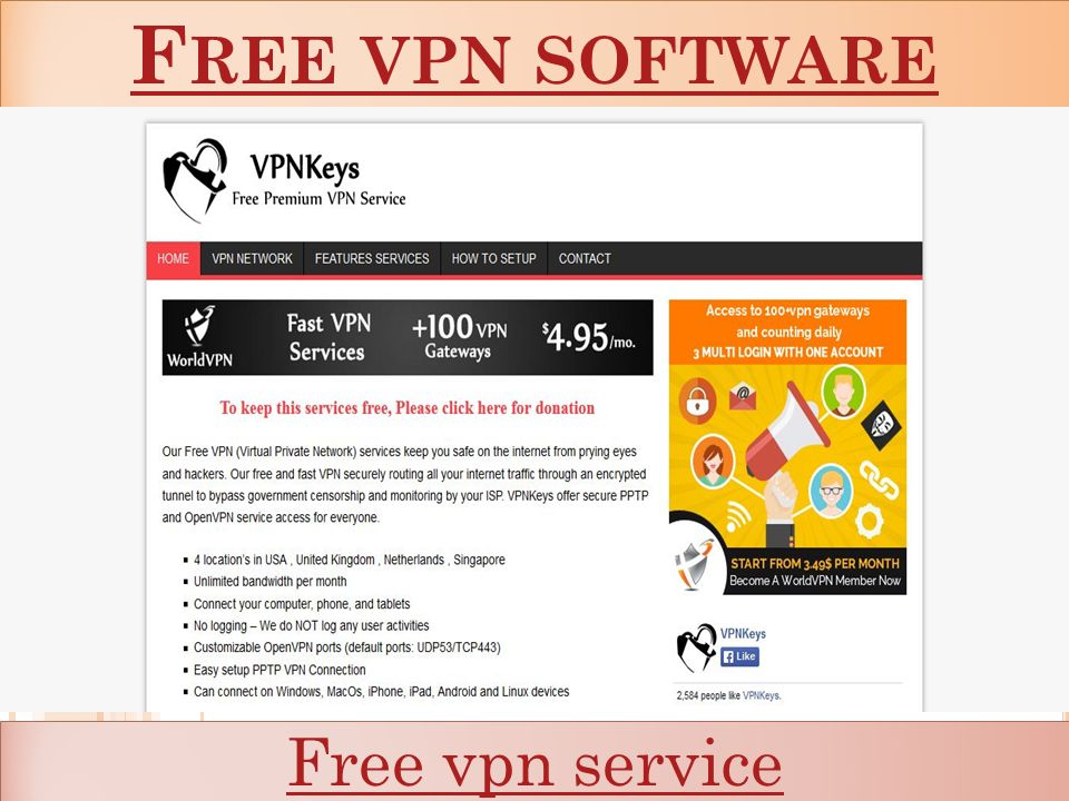 F REE VPN SOFTWARE F REE VPN SOFTWARE Free vpn service  - ppt download