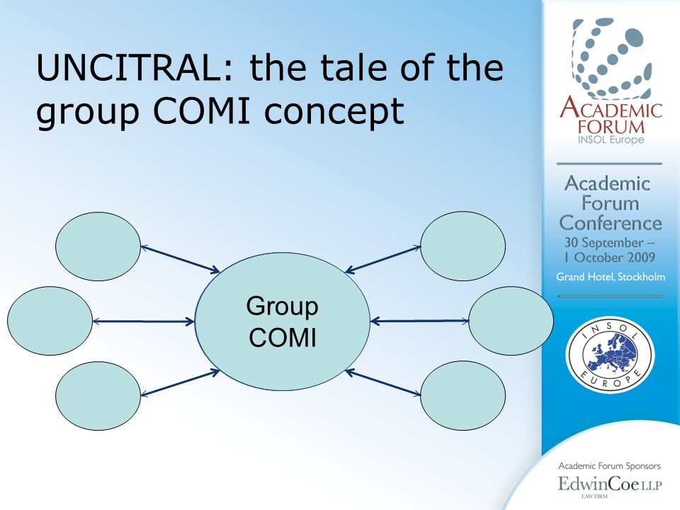 Coordination Centre Group COMI UNCITRAL: the tale of the group COMI concept