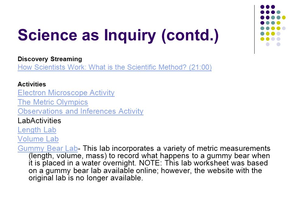 5th & 6 th Grade iLEAP Science Review Science as Inquiry Only ...