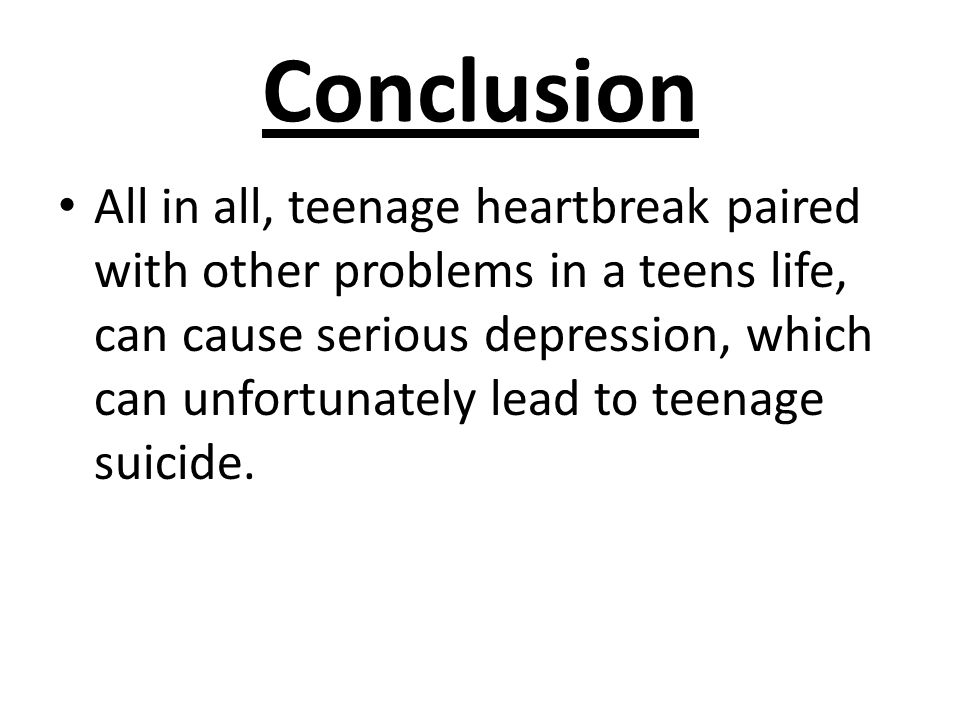 conclusion about teenage depression
