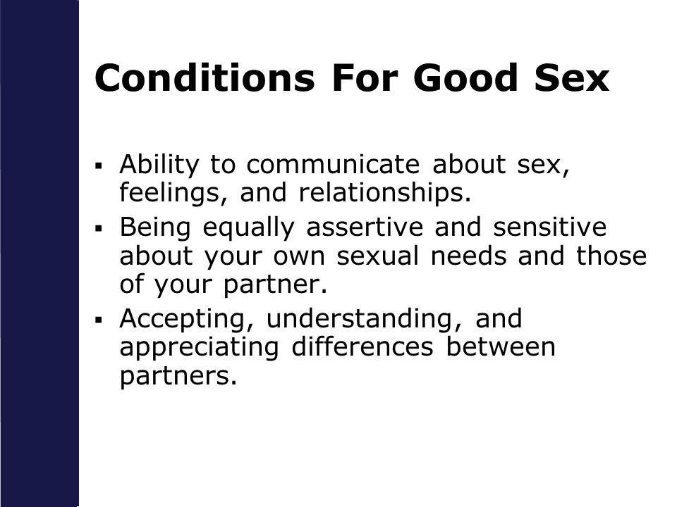 Communication good sex