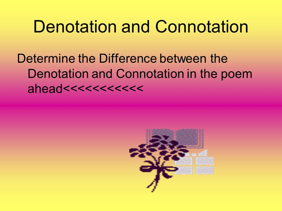 what is denotation in poetry