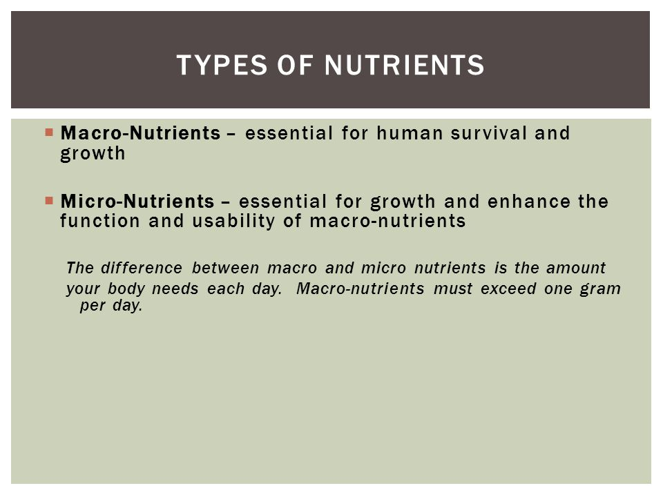 Macro Nutrients Essential For Human Survival And Growth  Ef 82 A1 Micro Nutrients