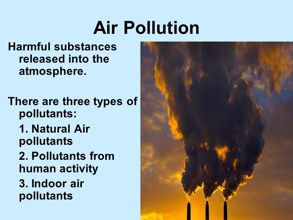 the major role of humans on air pollution Air pollution consists of chemicals or particles in the air that can harm the health of humans, animals, and plants it also damages buildings pollutants in the air take many formsthey can be gases, solid particles, or liquid droplets sources of air pollution pollution enters the earth's atmosphere in many different ways most air pollution is created by people, taking the form of emissions.