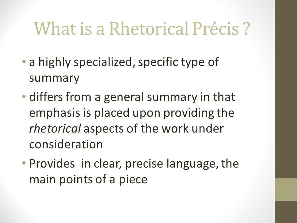 Rhetorical Précis and Rhetorical Analysis AP English Language and ...