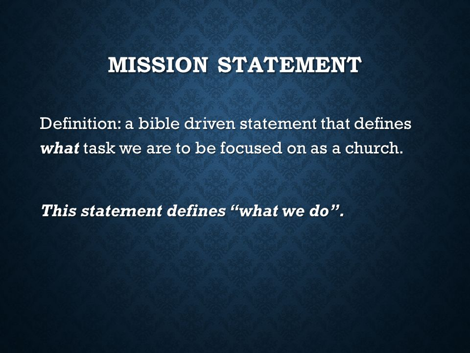 THE MISSION VISION & VALUES OF BEREAN BIBLE CHURCH  - ppt download