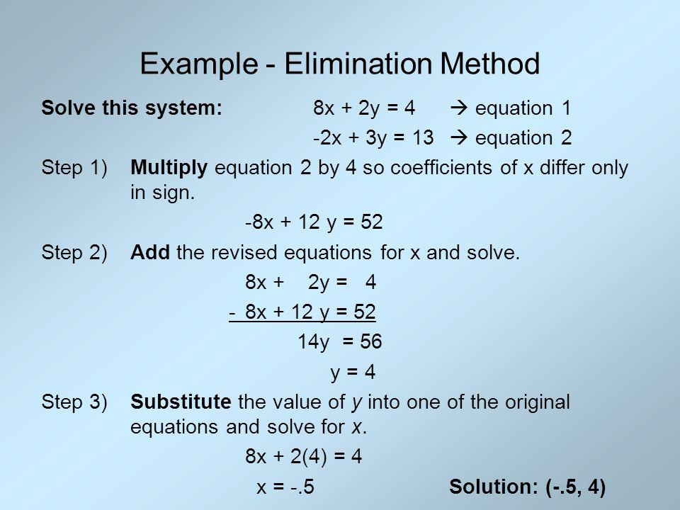 3.2 Solve Linear Systems Algebraically Algebra II. - ppt download
