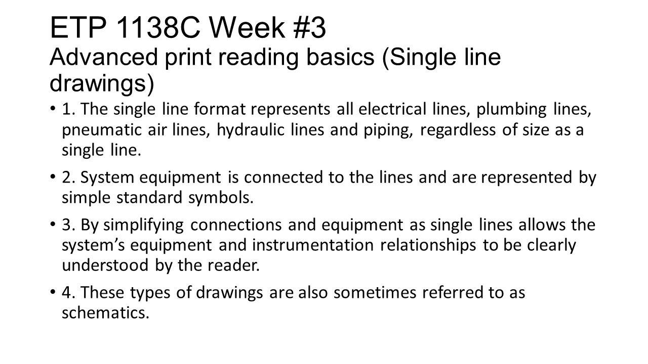 Etp 1138c Week 3 Advanced Print Reading Basics Print Creation