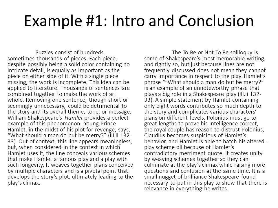 hamlet conclusion paragraph