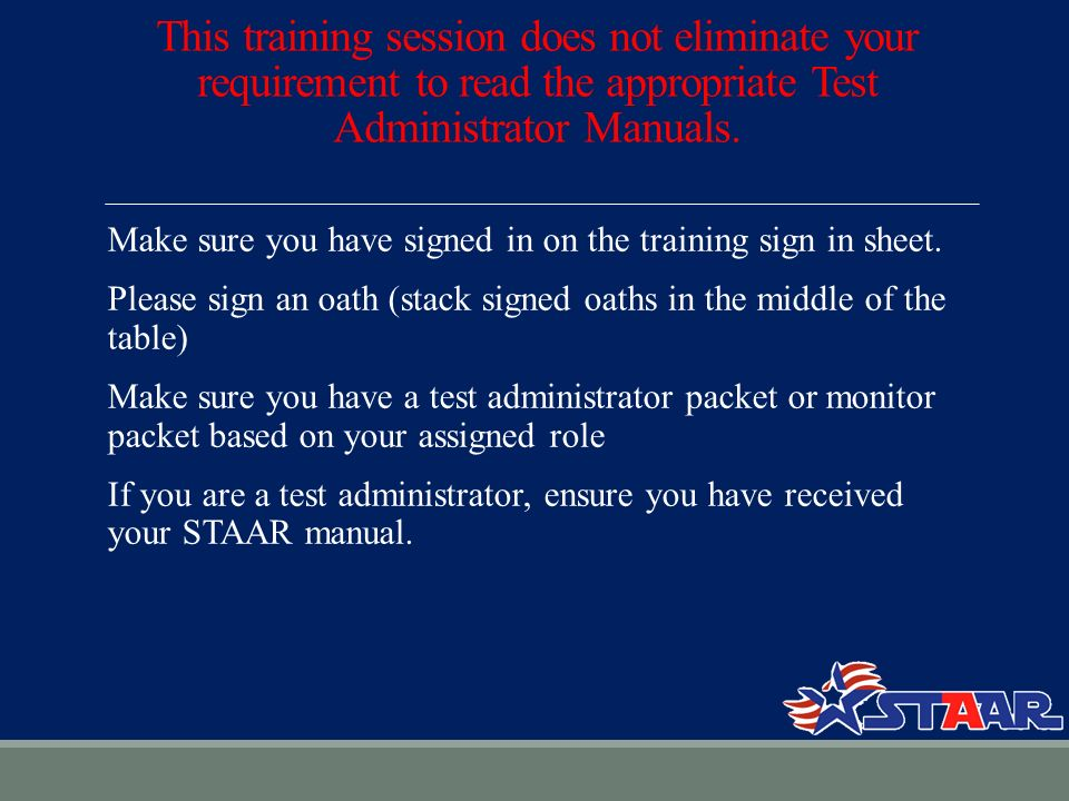 0bcdcd6146a CAMPUS NAME TEST GIVEN TEST ADMINISTRATOR TRAINING ppt download