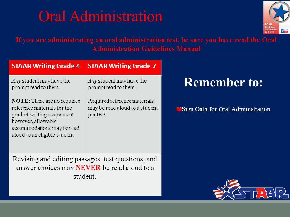 0d014c6af18 Oral Administration If you are administrating an oral administration test