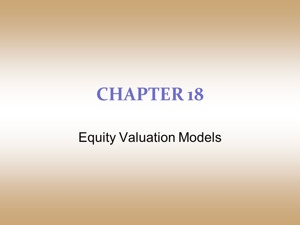 Cfa level 1 equity valuation concepts and basic tools.
