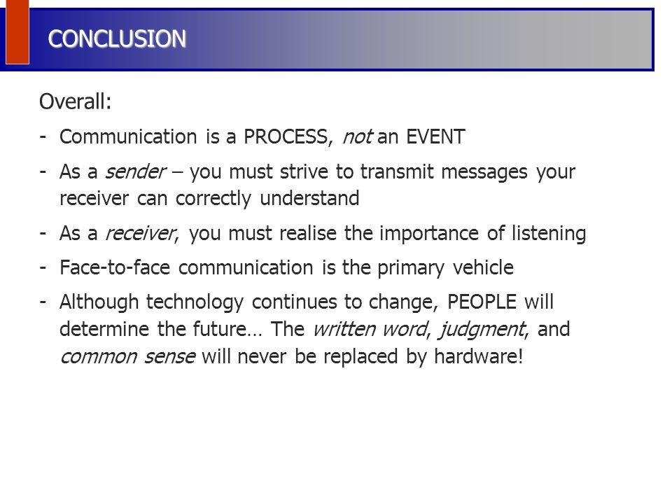 conclusion of communication process