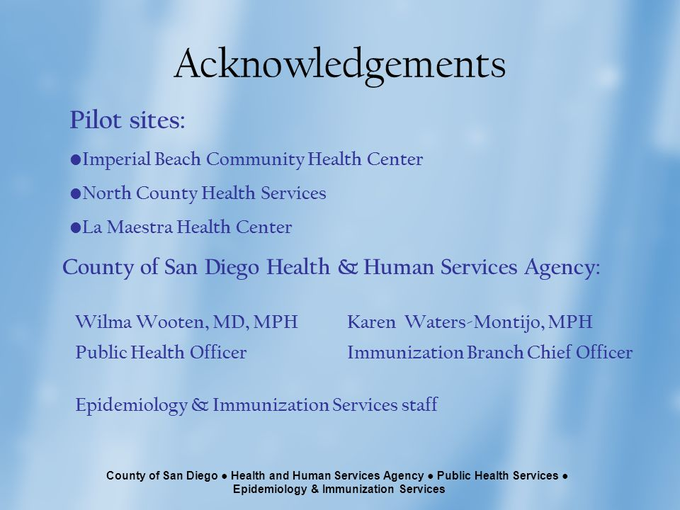 county of san diego health and human services