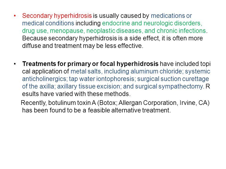 Botulinum Toxin A for Managing Focal Hyperhidrosis Journal