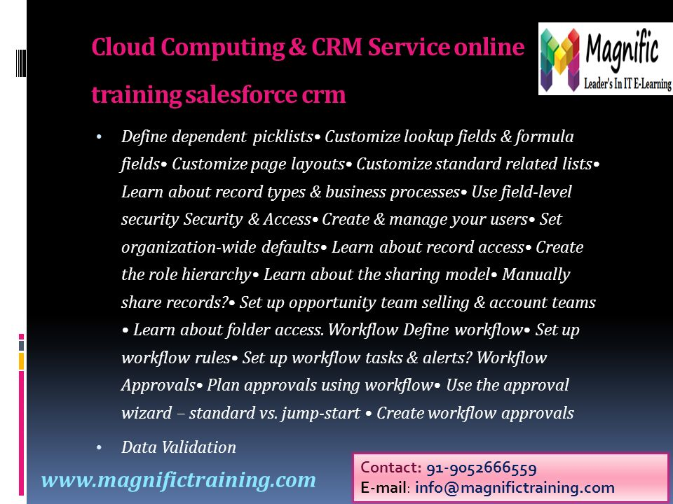 CRM Training Courses &Online Courses and Salesforce Online