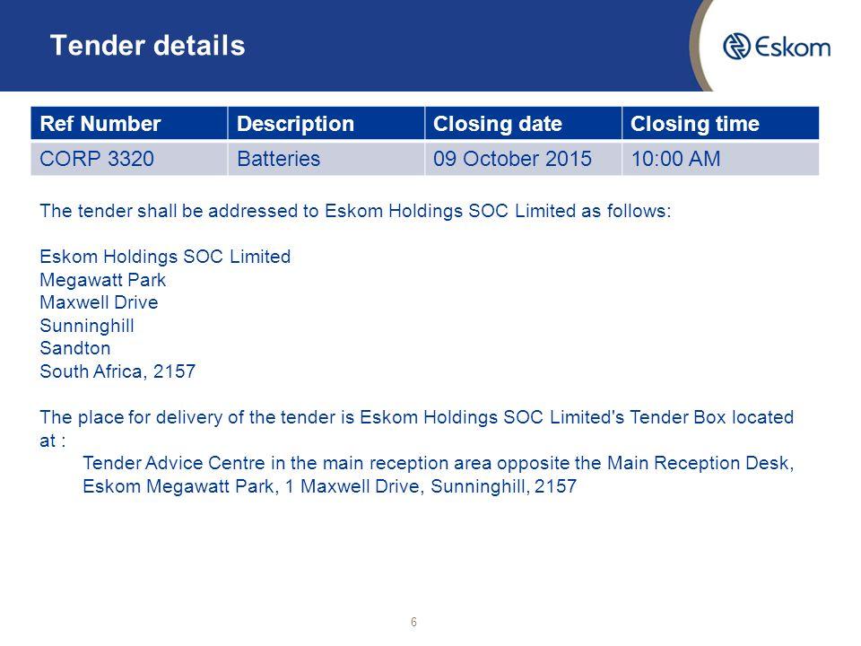 Eskom megawatt park tenders dating