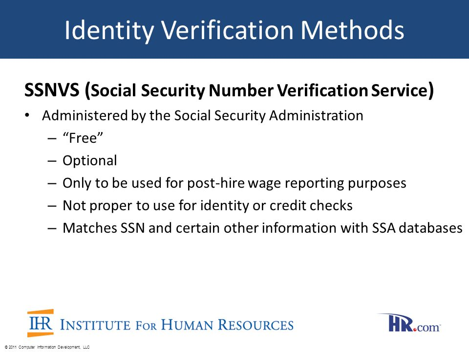 free social security number verification service