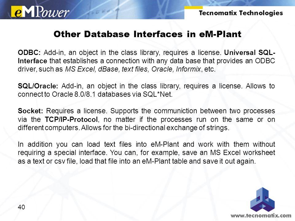 1 Module 3: Acquiring Data Training eM-Plant Version June