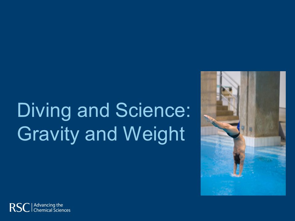 Diving and Science: Gravity and Weight