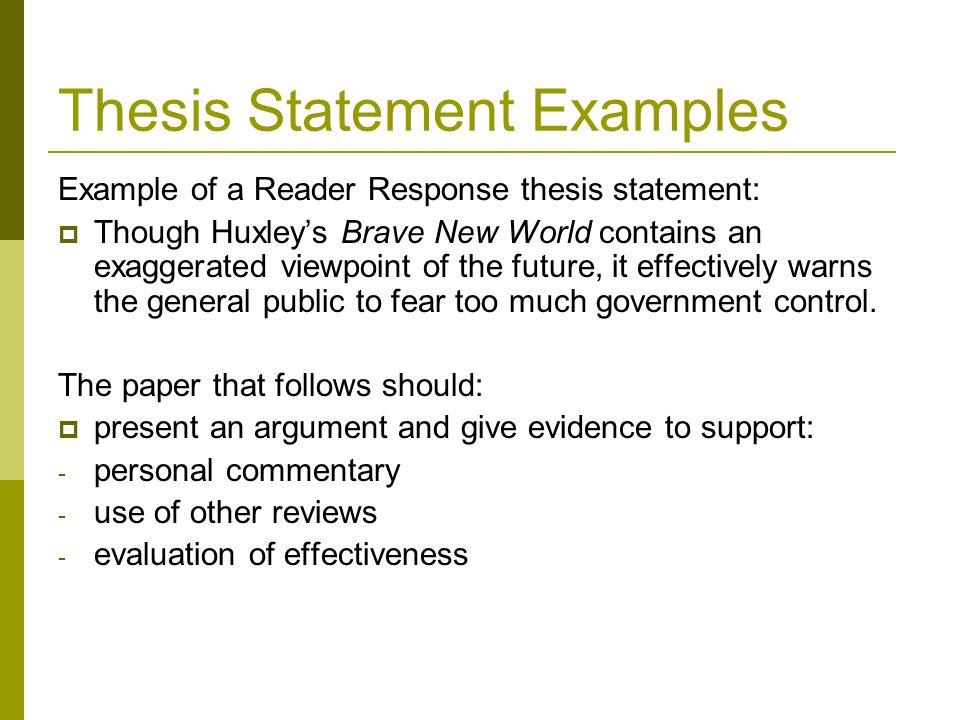 Evidence example statement thesis get answers my math homework