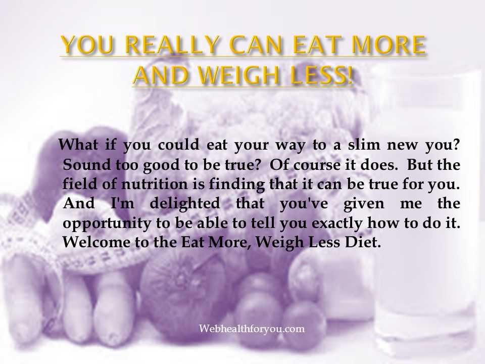 eat your way slim