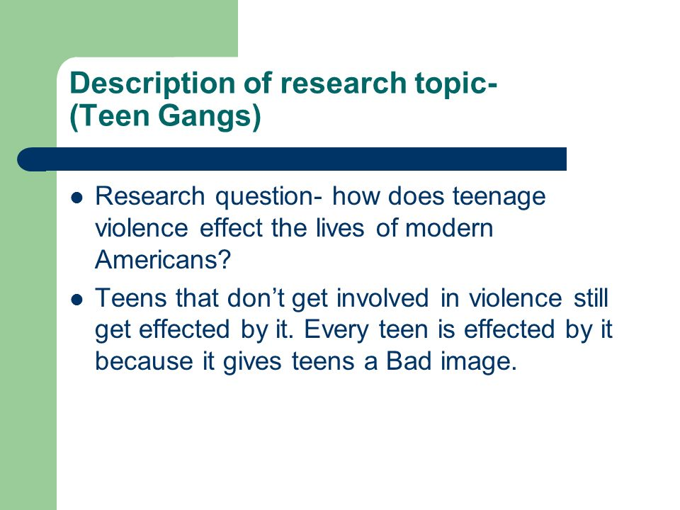 interesting research topics for teenagers