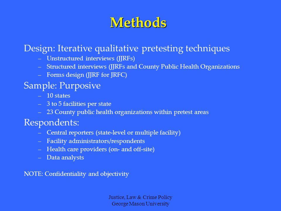 Justice, Law & Crime Policy George Mason University Immunization