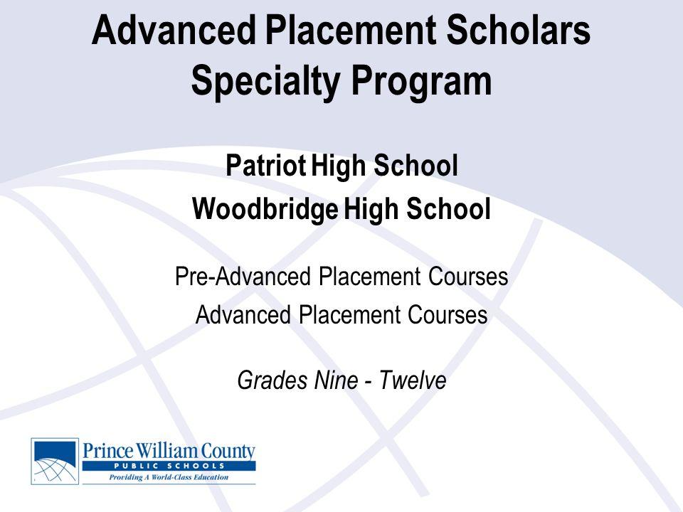Prince William County Public Schools Specialty Program Offerings Dr