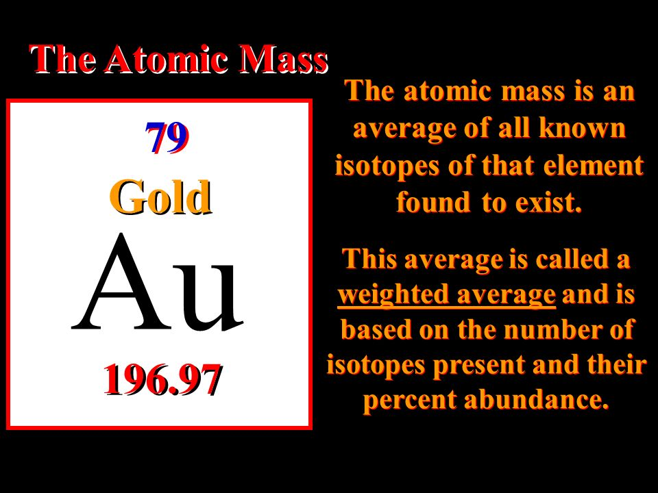 Stand by for an introduction to atoms and the periodic table ppt au the atomic number the atomic number for gold is 79 urtaz Gallery