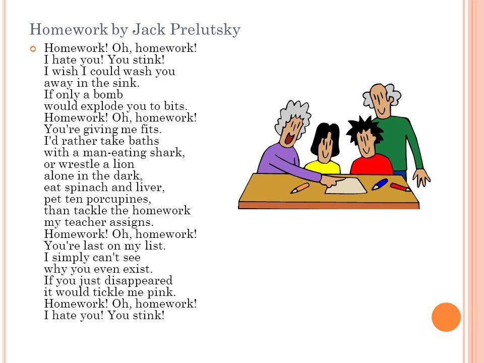 homework oh homework by jack prelutsky lyrics