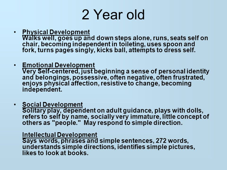3 2 Year old Physical Development ...