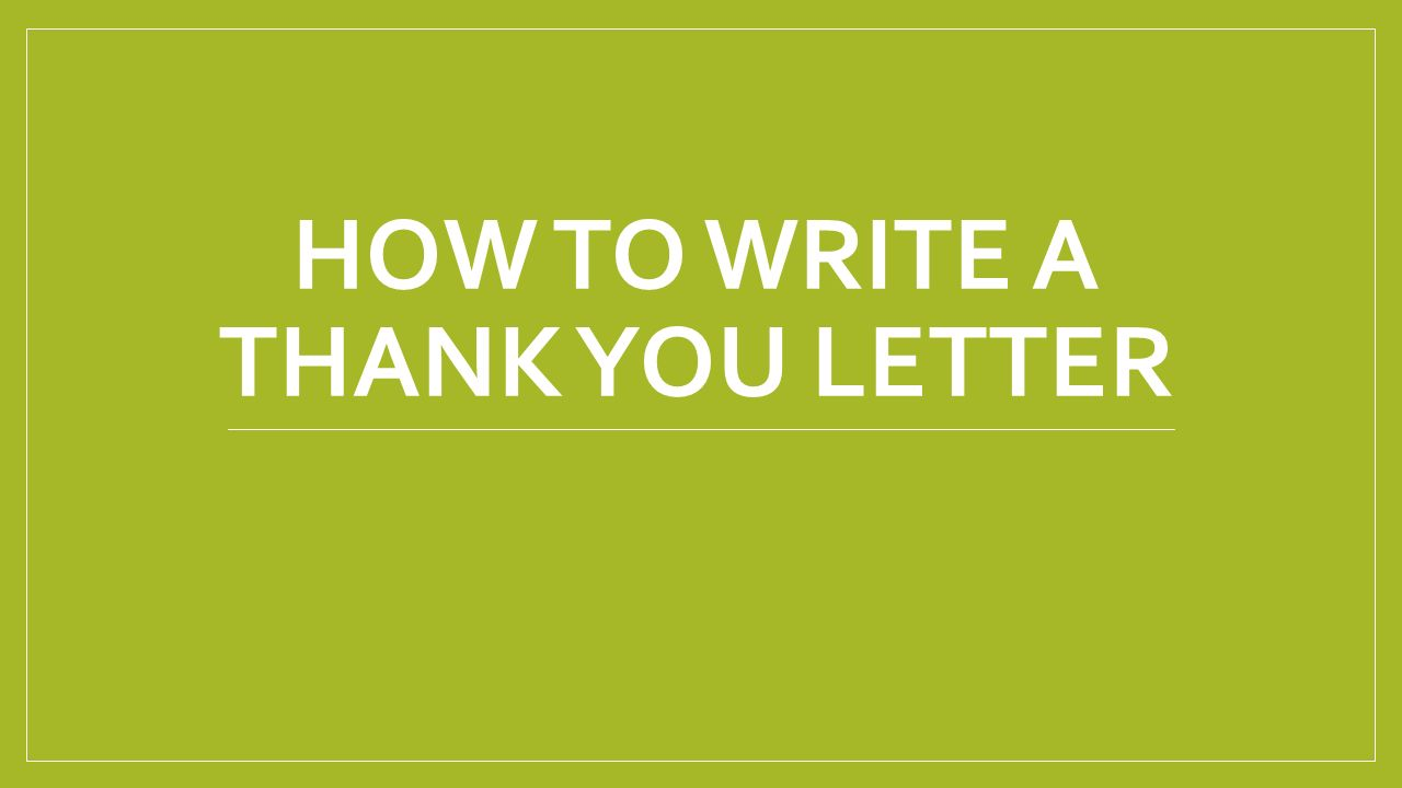 How To Write A Thank You Letter Many People Say Thank You Using