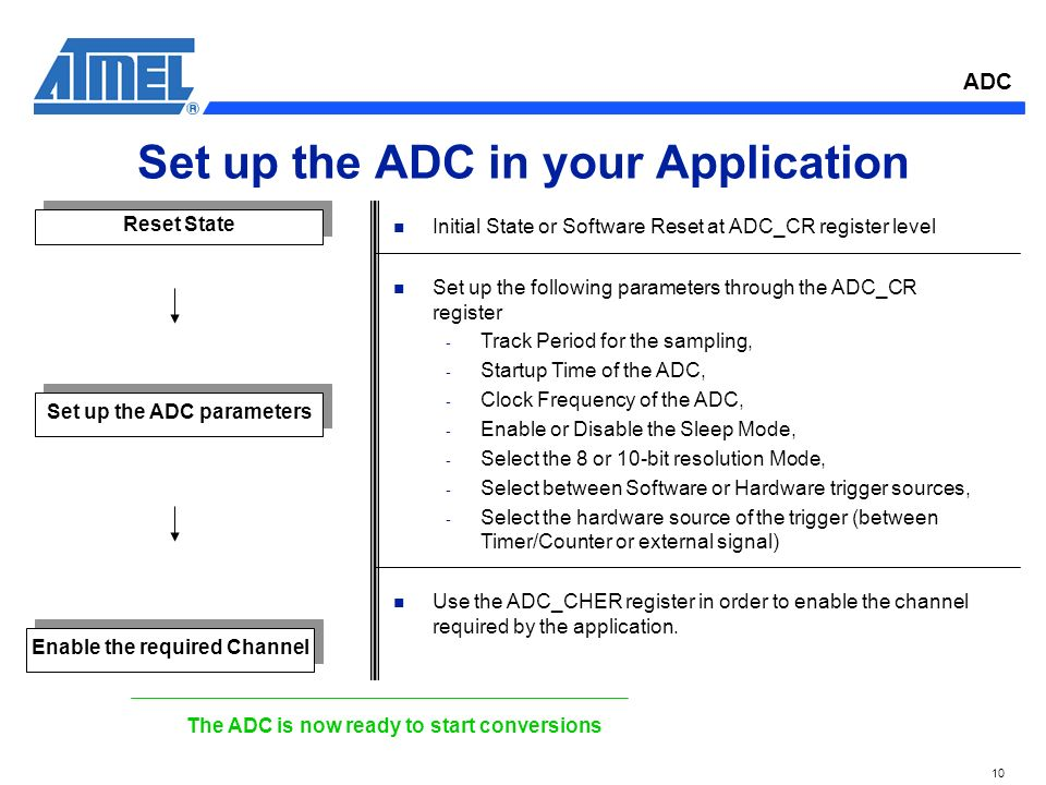 ADC 1 Analog to Digital Converter  ADC 2 ADC Features n