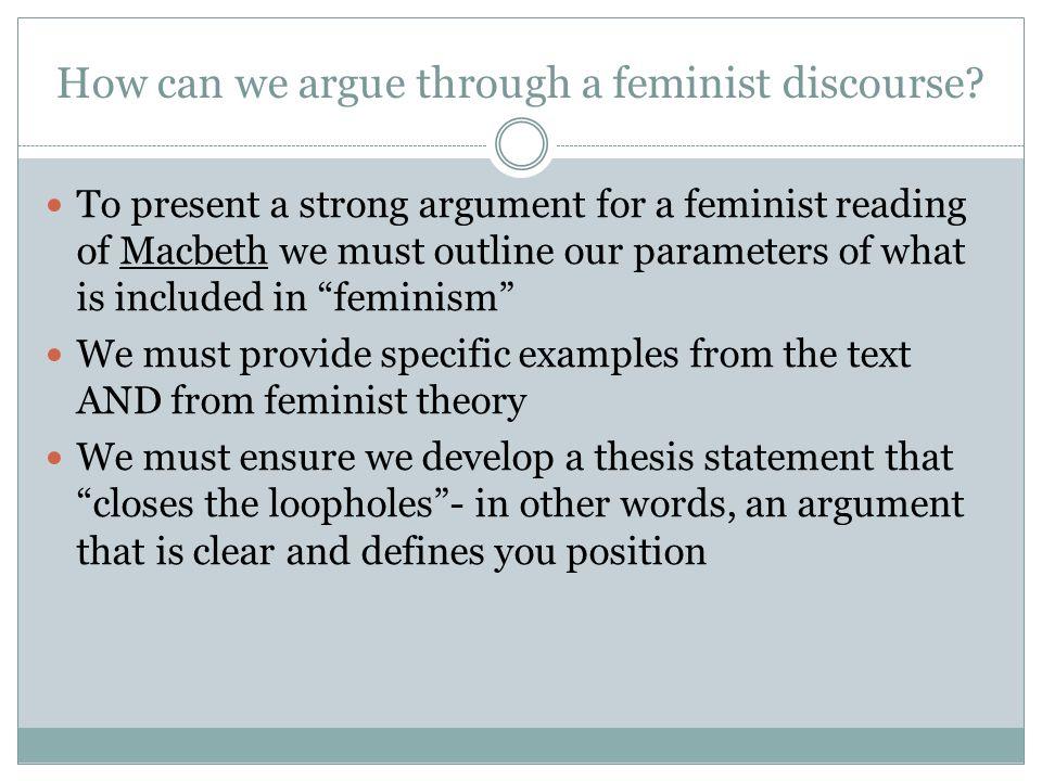 feminist thesis statement