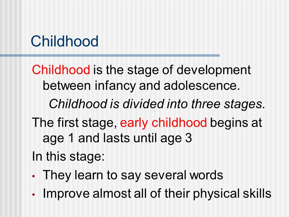 stages of development of the lv During this earliest stage of cognitive development, infants and toddlers acquire knowledge through sensory experiences and manipulating objects the ability to thinking about abstract ideas and situations is the key hallmark of the formal operational stage of cognitive development.
