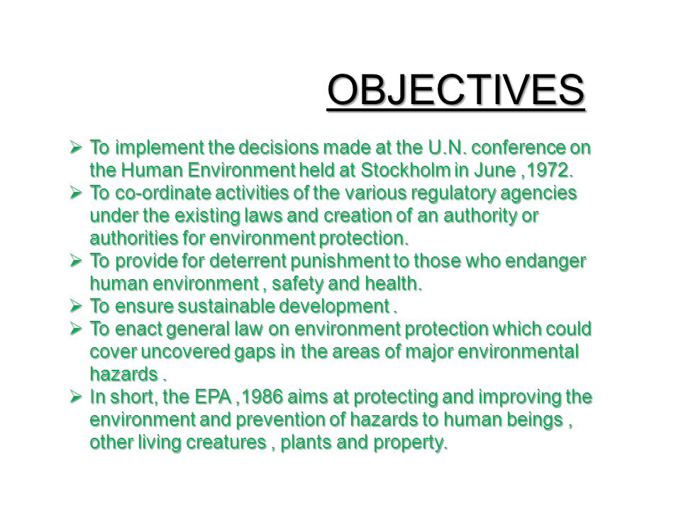 The environmental (protection) act, 1986 |authorstream.