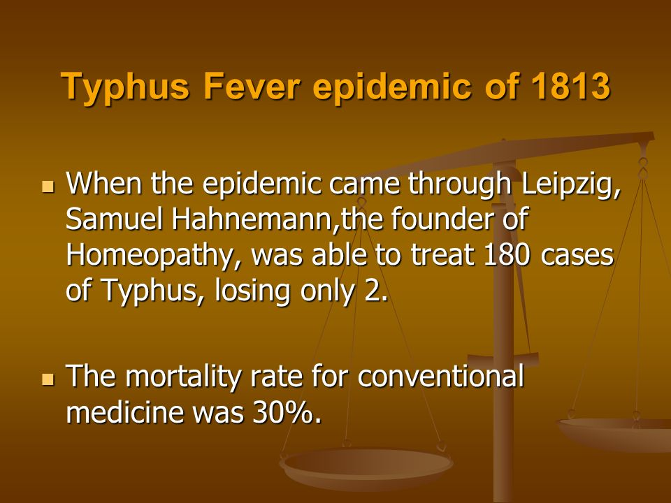 Homeopathy and the Treatment of Epidemic Disease Statistics