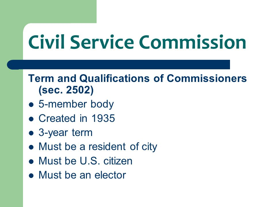 Civil Service Commission Functions and Duties 2010