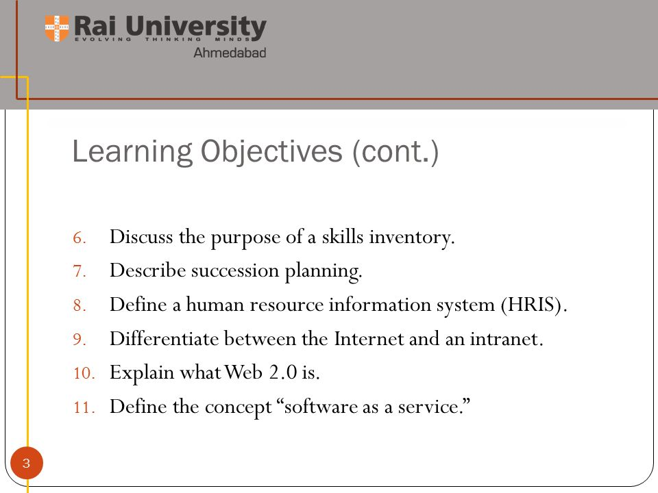Introduction to Human Resource Planning 1  Learning