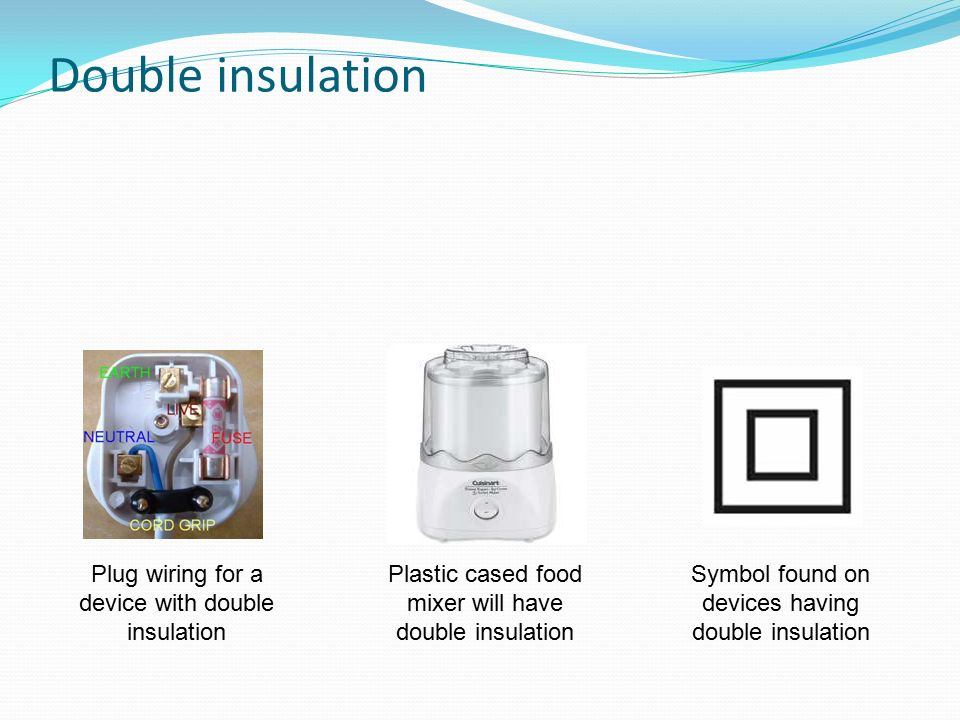 Direct Current Cells And Batteries Supply Electric Which. 14 Double Insulation Plug Wiring For A Device With Plastic Cased Food Mixer Will Have Symbol Found On Devices Having. Wiring. Double Receptacle Wiring At Eloancard.info