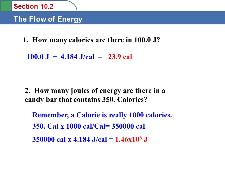 How Many Calories Are There In J