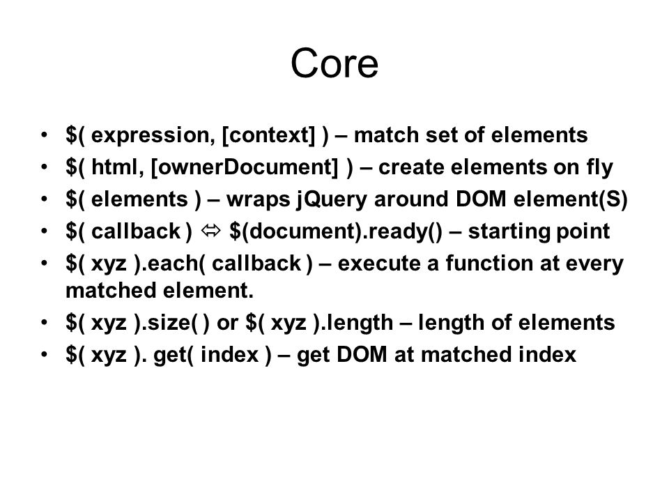 JQuery The Write Less, Do More, JavaScript Library  - ppt