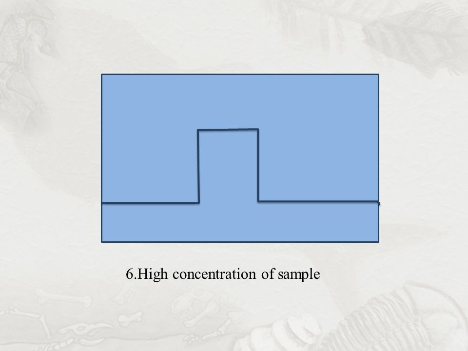 6.High concentration of sample