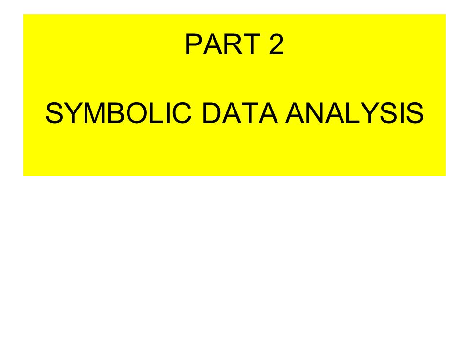 Introduction To Symbolic Data Analysis E Diday Ceremade Paris