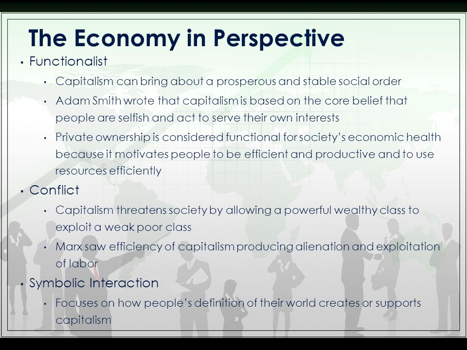 Social Institutions The Economy Think About Some Of The Experiences